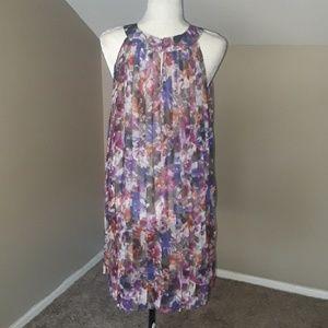 Badgley Mischka Dresses - Badgley Mischka Sheer Pleated Dress